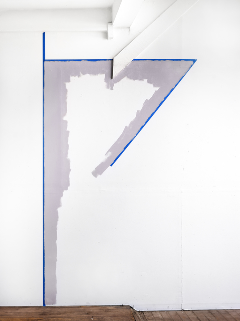 Catherine Wagner, 'Wall Tape Drawing Violet Pearl (Incomplete Triangle)', 2019, Anglim Gilbert Gallery