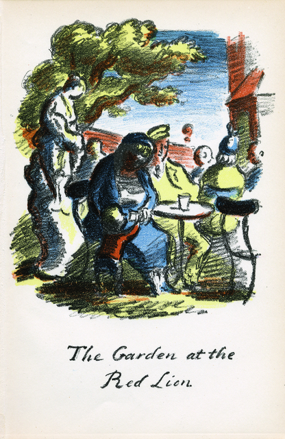 , 'The Garden at the Red Lion (from 'The Local', 1939),' 1939, Osborne Samuel