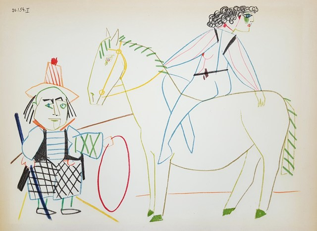 Pablo Picasso, 'Untitled (Revue Verve)', 1954, Print, Lithograph, Graves International Art