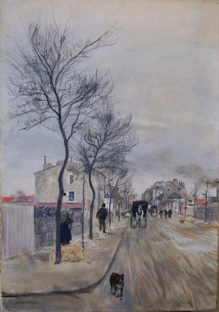, 'Une Rue en Hiver, Pres de Paris,' 1890, Anderson Galleries
