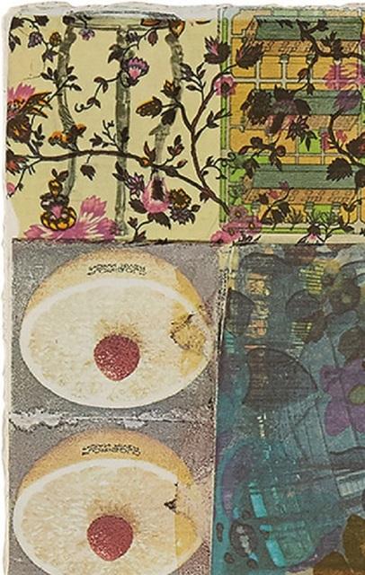 Robert Rauschenberg, 'Arcanum V ', 1981, Print, Color serigraph with hand-coloring and collage on paper, Zane Bennett Contemporary Art
