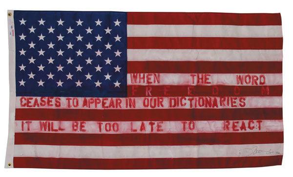 , 'The flag mockup,' 2014, Galerie Kellermann