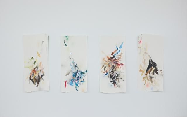 , 'Autorretrato como papéis toalha sujos de tinta II,' 2017, Espacio Mínimo