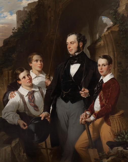 , 'Portrait of Laurence Davidson and His Three Sons,' 1850, Jack Kilgore & Co.