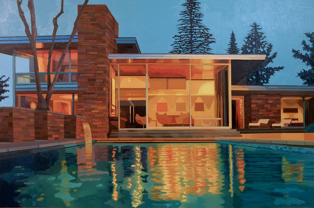 , 'California Living, Mid-Century Modern House at Dusk,' 2015, Cynthia Corbett Gallery