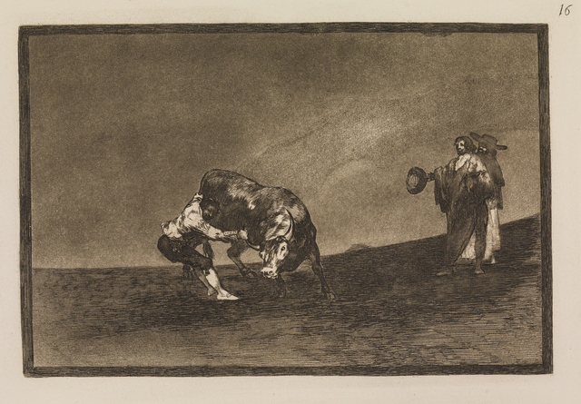 Francisco de Goya, 'The same man throws a bull in the ring at Madrid', 1815-1816, Statens Museum for Kunst