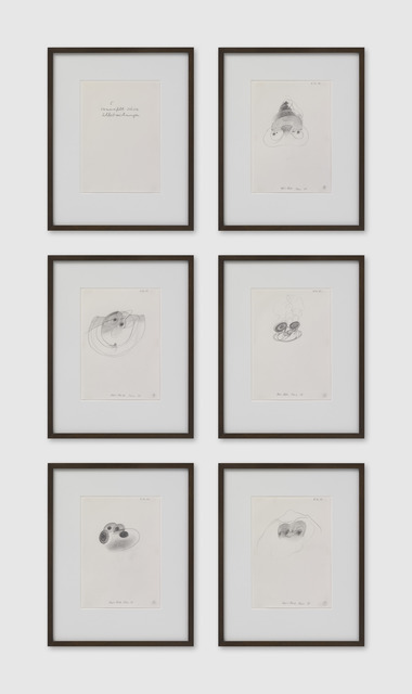 , '5 verzweifelt-süsse Selbstzeichnungen,' 1978, Galerie Eva Presenhuber