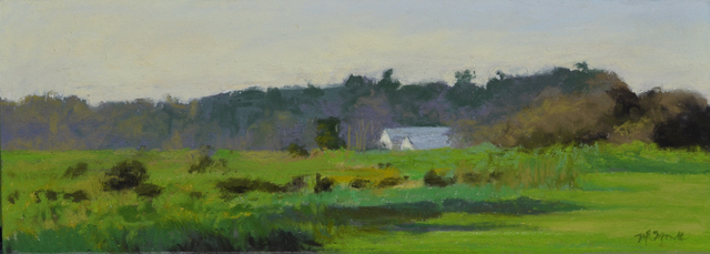 Mary Monk, 'Evening Light on Marsh Houses', 2018, LeMieux Galleries