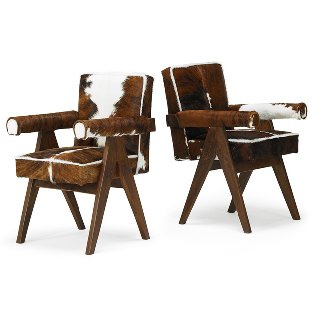 Pierre Jeanneret, 'Two Committee Armchairs From The Chandigarh Administrative Buildings, France/India', 1950s, Rago/Wright
