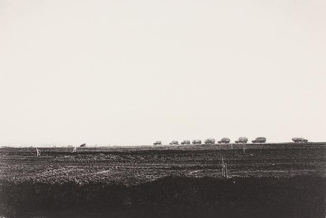 , 'Construction Trucks Arrive, Narita, Chiba (Sanrizuka series),' 1971, MIYAKO YOSHINAGA
