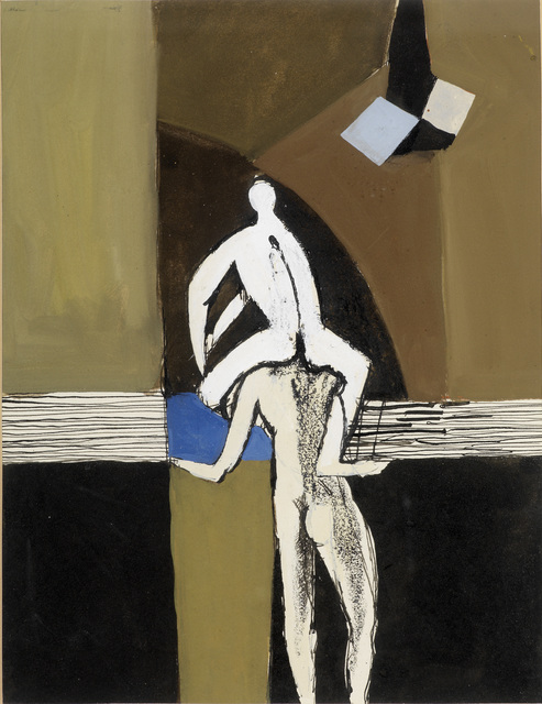 Keith Vaughan, 'Acrobats', 1955, Painting, Gouache and mixed media, Osborne Samuel