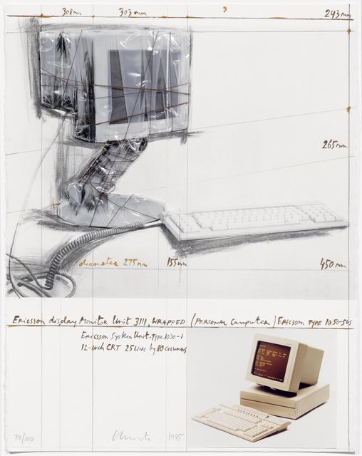 Christo, 'Ericson Display Monitor Unit 3111, Wrapped, Project for Personal Computer', 1985, Koller Auctions