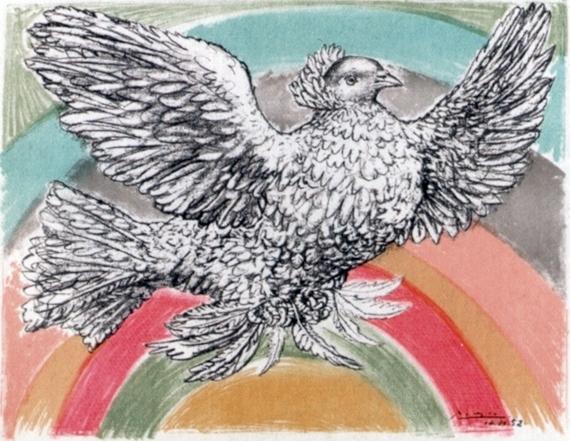 Pablo Picasso, 'Le Colomb Volant  - The Flying Dove with a rainbow', 1952, Puccio Fine Art