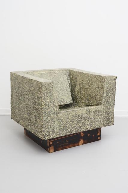 Karl Monies, 'Delta State 02', 2020, Design/Decorative Art, Chainsaw shaped recycled foam, phosphorescent plasti dip, shou sugi ban treated fir wood, Etage Projects