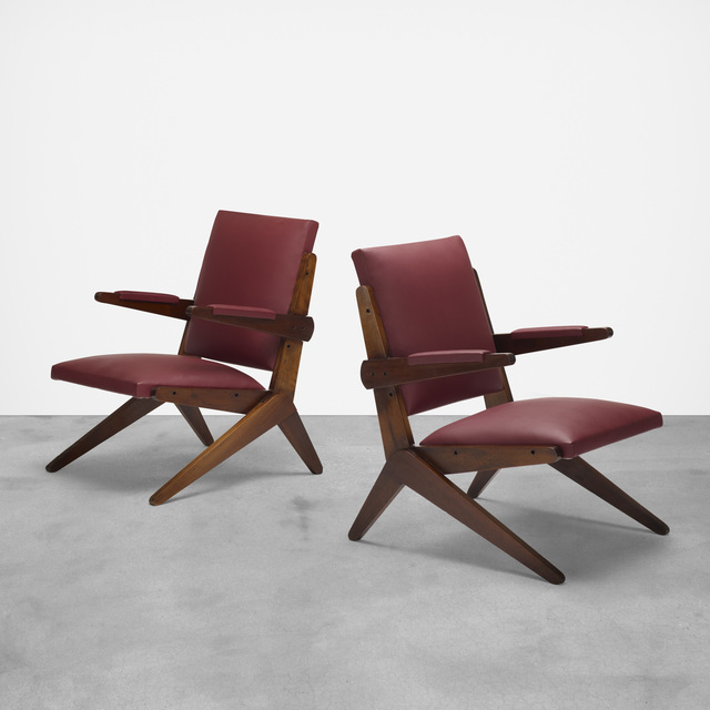 attributed to Lina Bo Bardi, 'chairs, pair', c. 1960, Wright