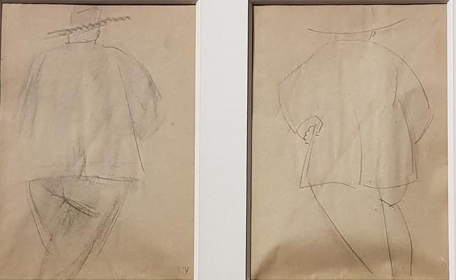 , 'Dessin Etude personnage de dos,' ca. 1930, Galerie Marie-Robin