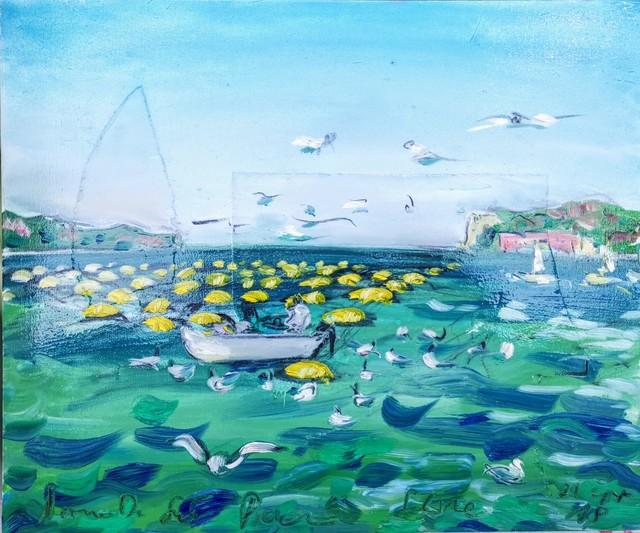 , 'Water paintings summer 2019 - plein air in situ paintings, Salt pants, vers Forma Viva, les mouettes...,' 2019, Noravision Gallery