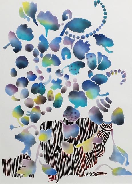 Carlson Hatton, 'Floral Blue', 2016, TWFINEART