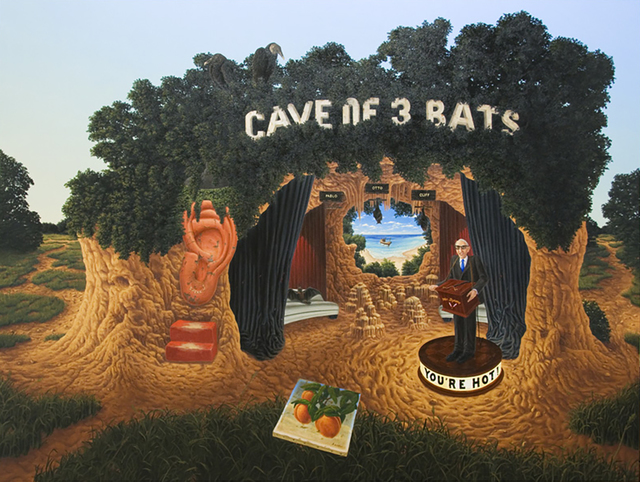 Steve Galloway, 'Cave of Three Bats (and the Ray of Hope)', 2008, ROSEGALLERY