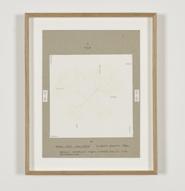 , 'Study for Wallpiece,' 1982, Galerie Greta Meert
