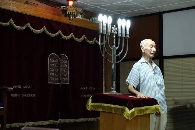 , 'An old member of the Sefarati Synagogue takes part in Shabbat,' 2015, Anastasia Photo
