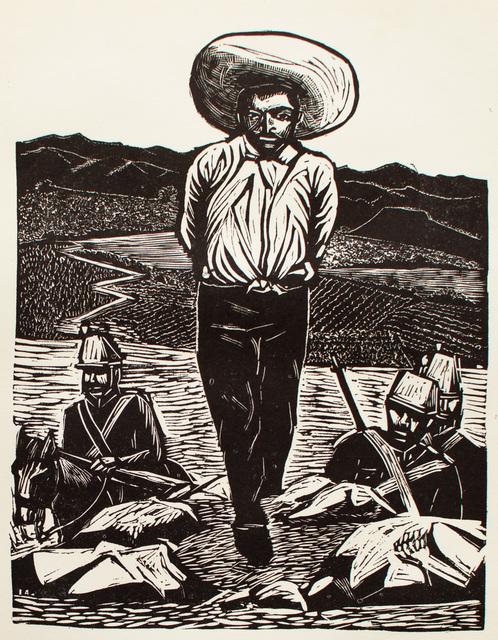, 'Emiliano Zapata Hecho Prisionero en su Lucha en Favor de los Campesinos. 1908,' 1960, Hecho a Mano