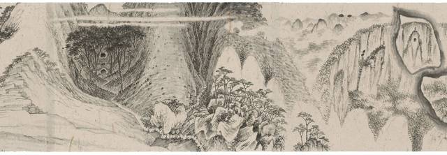, 'The Peach Landscape of White Cloud Cave (scroll),' 2018, Beijing Commune