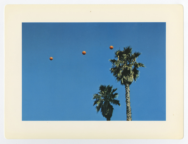 ", '""Throwing Three Balls in the Air to Get a Straight Line (Best of Thirty-Six Attempts)"",' 1973, Lee Gallery"