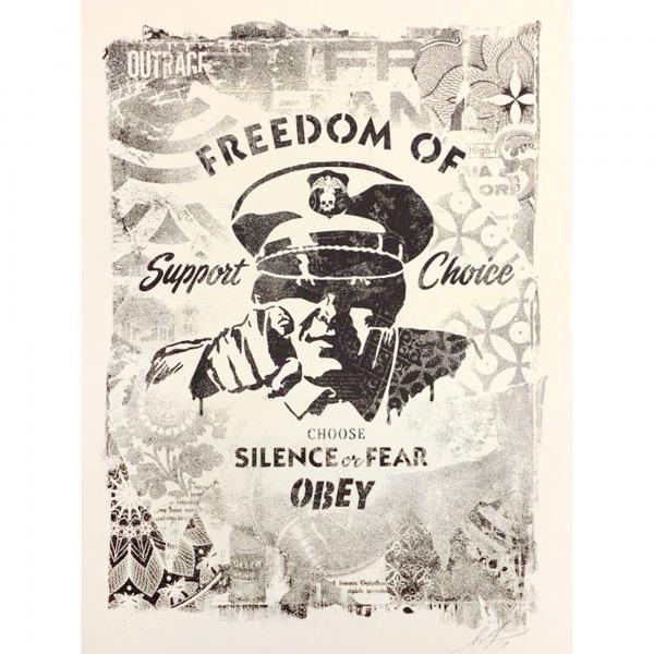 Shepard Fairey, 'Damaged Freedom Of Choice', 2019, AYNAC Gallery