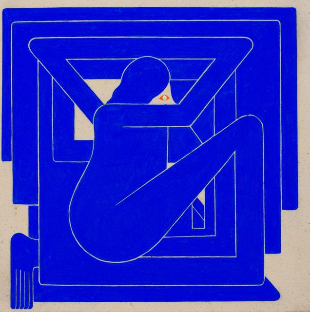 , 'Untitled, (Blue Figure, Orange Eye),' 2018, V1 Gallery