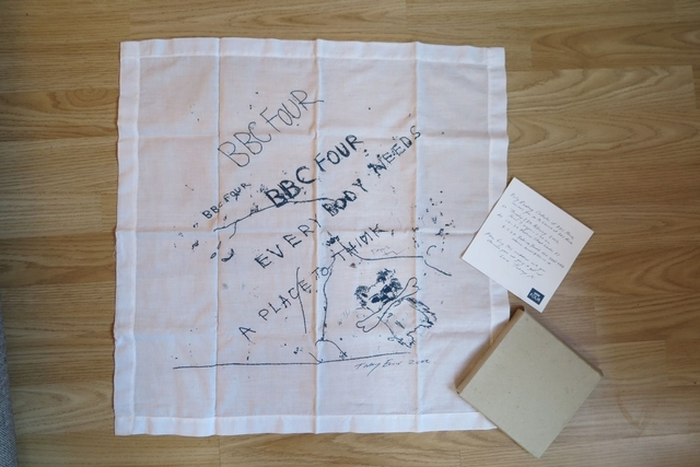 , 'Everybody Needs a Place to Think (Limited Edition Vintage Promotional Handkerchief, VIP Invitation and Box) for British Broadcasting Company (BBC 4) ,' 2002, Alpha 137 Gallery