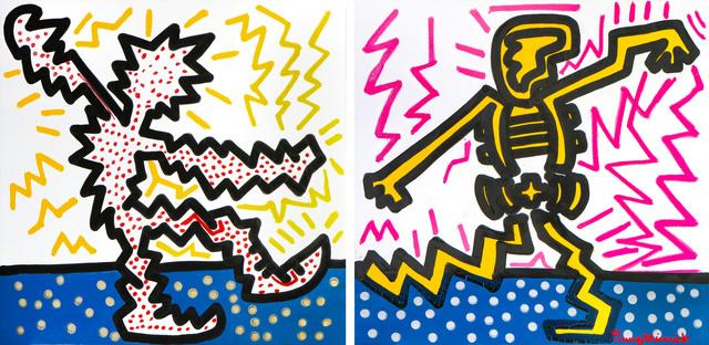 , 'Dance Off (Diptych),' 2017, Maddox Gallery