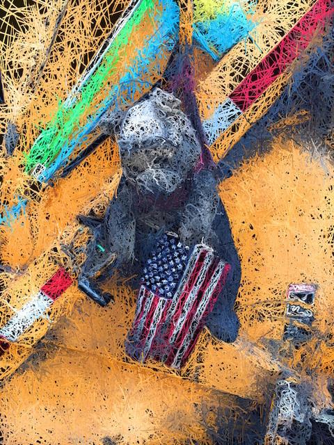 , 'Flag Bear,' 2016, Walter Wickiser Gallery