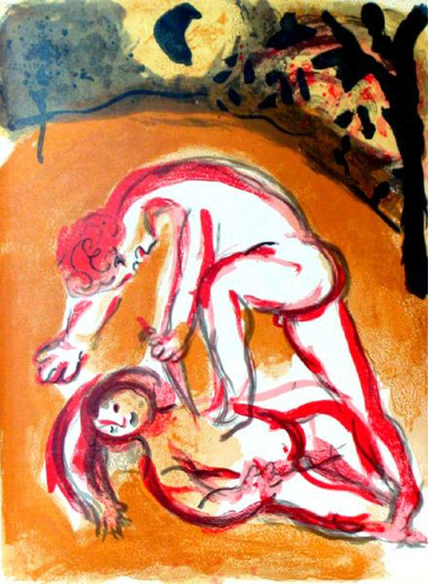 Marc Chagall, 'Cain and Abel', 1960, Print, Lithograph, Galerie d'Orsay