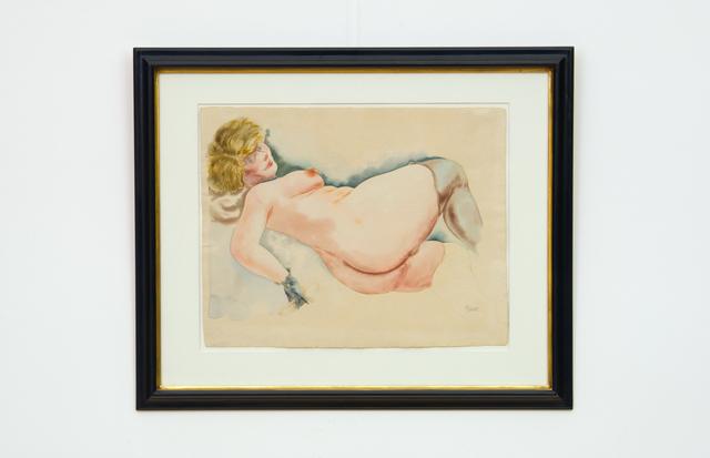 , 'Liegende mit Banane (Reclining Nude with Peeled Banana),' 1929, Hagemeier