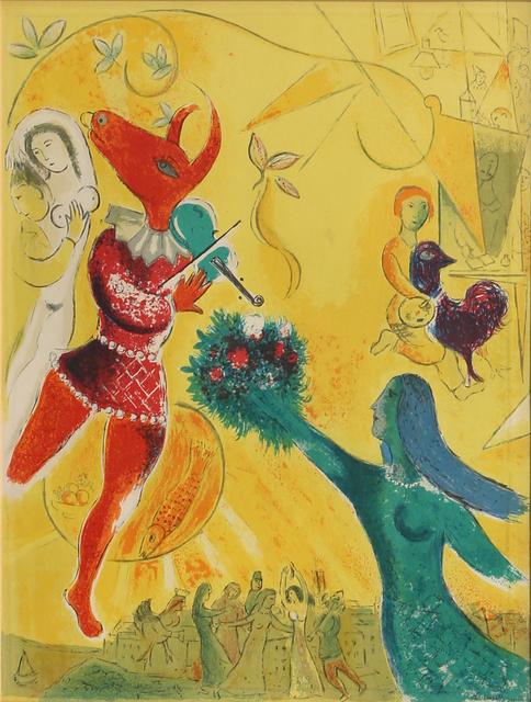 Marc Chagall, 'La Danse and Le Cirque from Derrière le Miroir', ca. 1960, Print, Lithograph, RoGallery