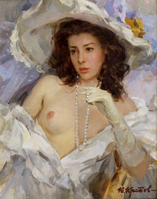 Yuri Krotov, 'Portrait of a draped female nude half-length', Roseberys