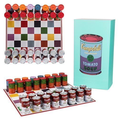 Andy Warhol, 'Campbell's Soup Can Chess Set', ca. 2017, Design/Decorative Art, Chess board, 32 playing pieces, custom box, vinyl playing pieces, Artware Editions