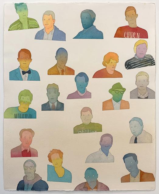 Dan Gluibizzi, '21 men', 2014, Russo Lee Gallery