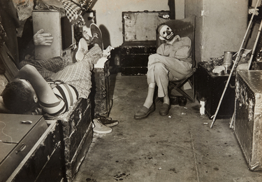 Dressing room behind the circus ring, Ringling Brothers and Barnum & Bailey Circus