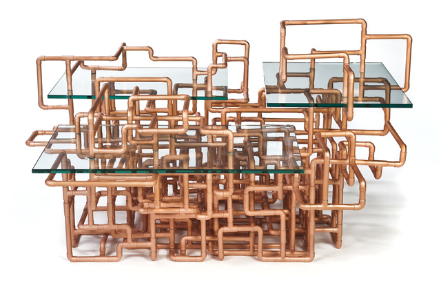 Benjamin Rollins Caldwell, 'American Pipe Dream Low Table', 2011, Design/Decorative Art, Copper Pipes
