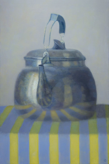 , 'Kettle on Yellow Stripes,' 2014, Gallery Henoch