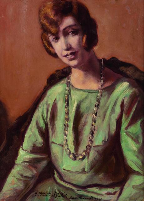 Émile Bernard, 'Portrait de Jeanne Painvin', 1930, Painting, Oil on panel, Leclere