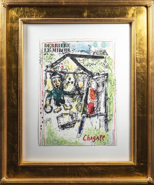 Marc Chagall, 'Derièrre le Miroir, Couverture: La Peintre devant le Village I (Cover of Dèrriere le Miroir No. 182: The Artist at the Village I) M 603a', 1969, David Barnett Gallery