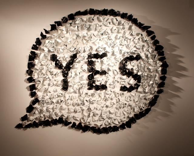 , 'YES,' 2016, Galleria Ca' d'Oro