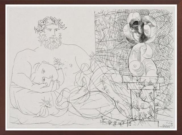 Pablo Picasso, 'Le Repos du Sculpteur et la Sculpture Surréaliste', 1933, Print, Etching, Robin Rile Fine Art