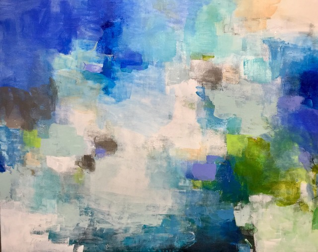 , 'Blue Watercolors,' 2019, Addison Gallery