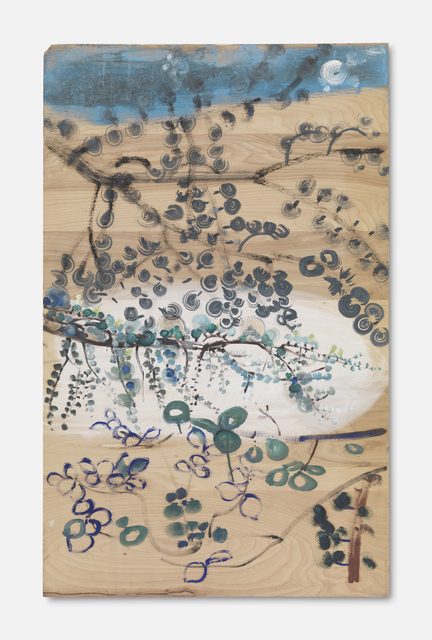 , 'Untitled (Branches with Purple/Blue leaves in Lower Left. Moon in Upper Right),' , The Approach
