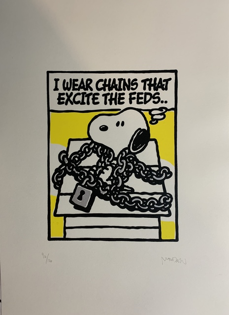 """Mark Drew, 'I Wear Chains That Excite The Feds... """"NAS"""" Silver', 2019, New Union Gallery"""