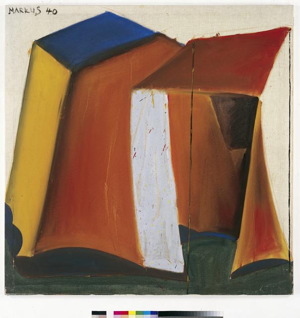 , 'Zelt 40 - dithyrambisch (Tent 40 - dithyrambic),' 1965, Musée d'Art Moderne de la Ville de Paris